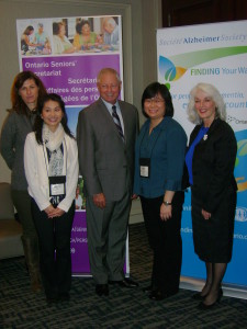 Representatives from the Alzheimer Society of Toronto with the Minister and Gale Carey