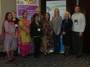 Representatives from the Alzheimer Society of York Region with the Minister and Gale