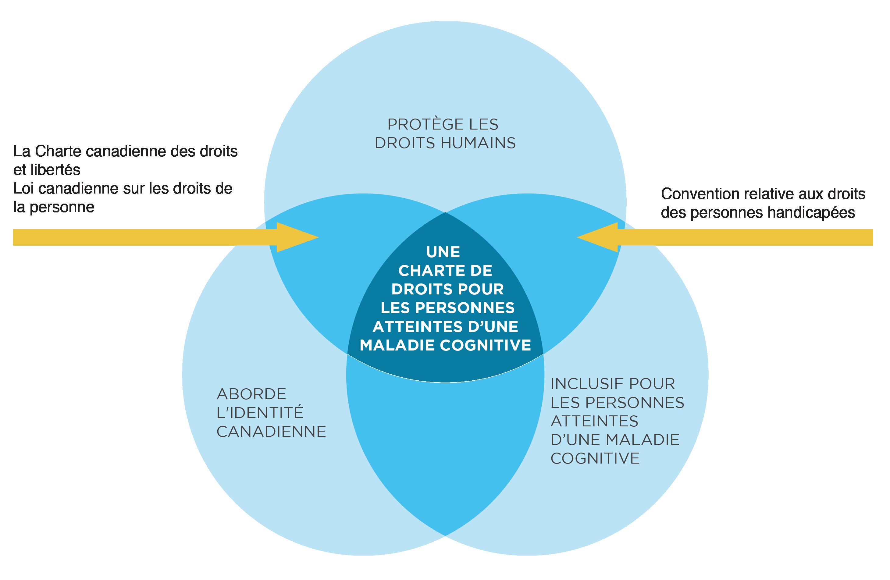 Un diagramme des droits de la personne et de la maladie cognitive au Canada.