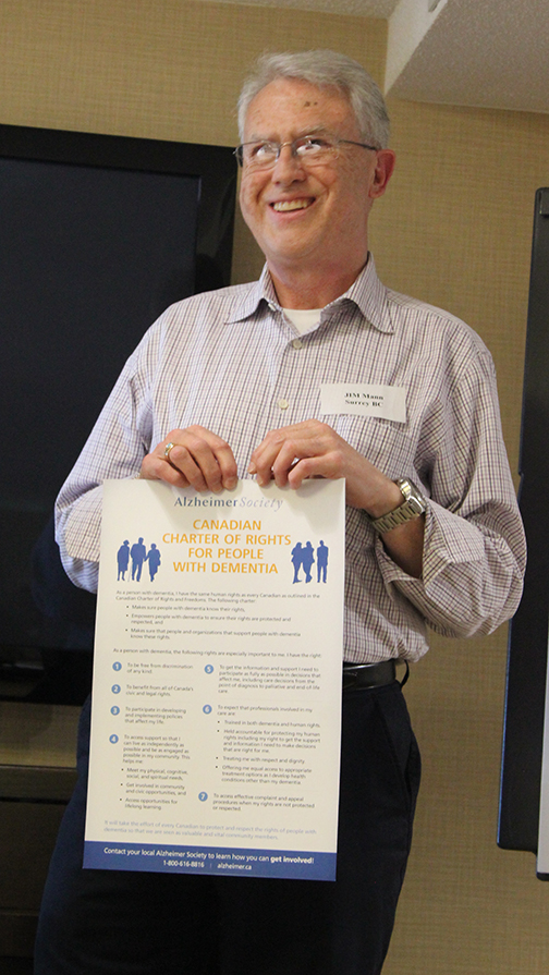 Jim holding the Charter