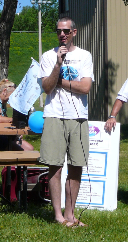 Tobias Terrill at a Walk event